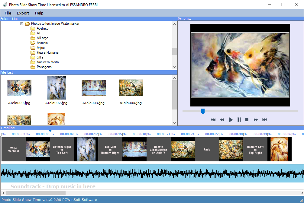 Photo Slideshow Creator Pro Screenshot