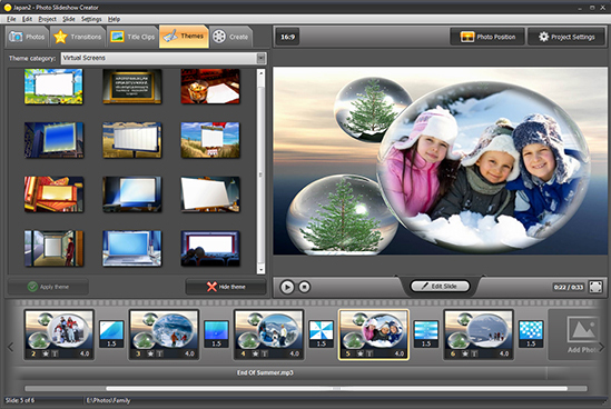 Photo Slideshow Creator Deluxe, Slideshow Software Screenshot