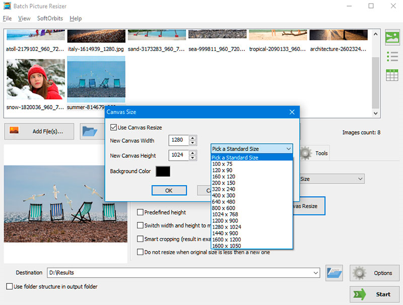 Photo Manipulation Software, Photo Stamp Remover and Batch Picture Resizer Screenshot