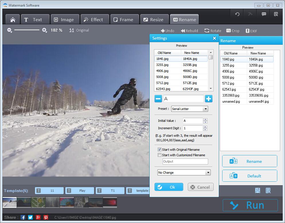 Photo Watermark Software Screenshot 8