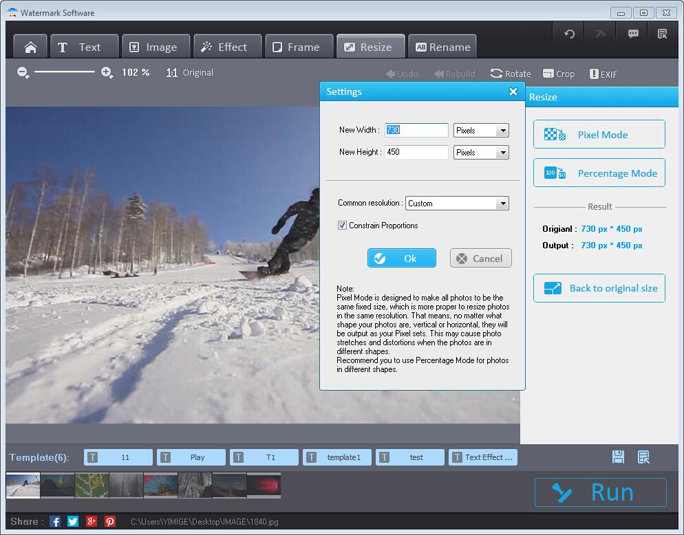 Photo Watermark Software Screenshot 9