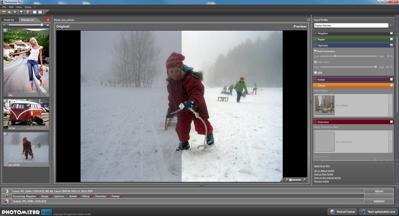 Photomizer Pro, Photo Editing Software Screenshot