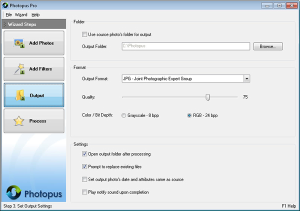 Photopus Pro, Batch Image Software Screenshot