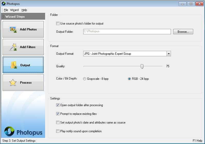 Photopus Standard, Batch Image Software Screenshot