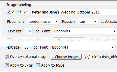 Photo Editing Software, Photoshop Batch Image Processor (BIP) Screenshot