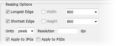 Photoshop Batch Image Processor (BIP) Screenshot