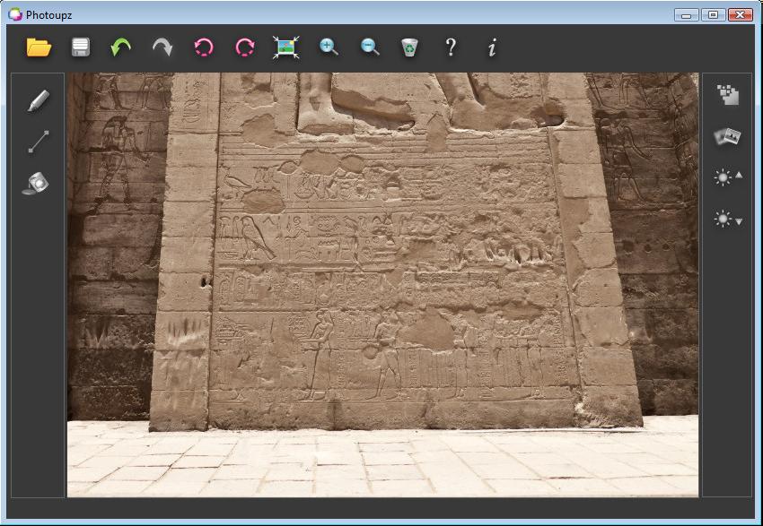 Photoupz, Photo Editing Software Screenshot