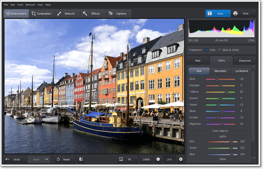 PhotoWorks PRO, Photo Editing Software Screenshot