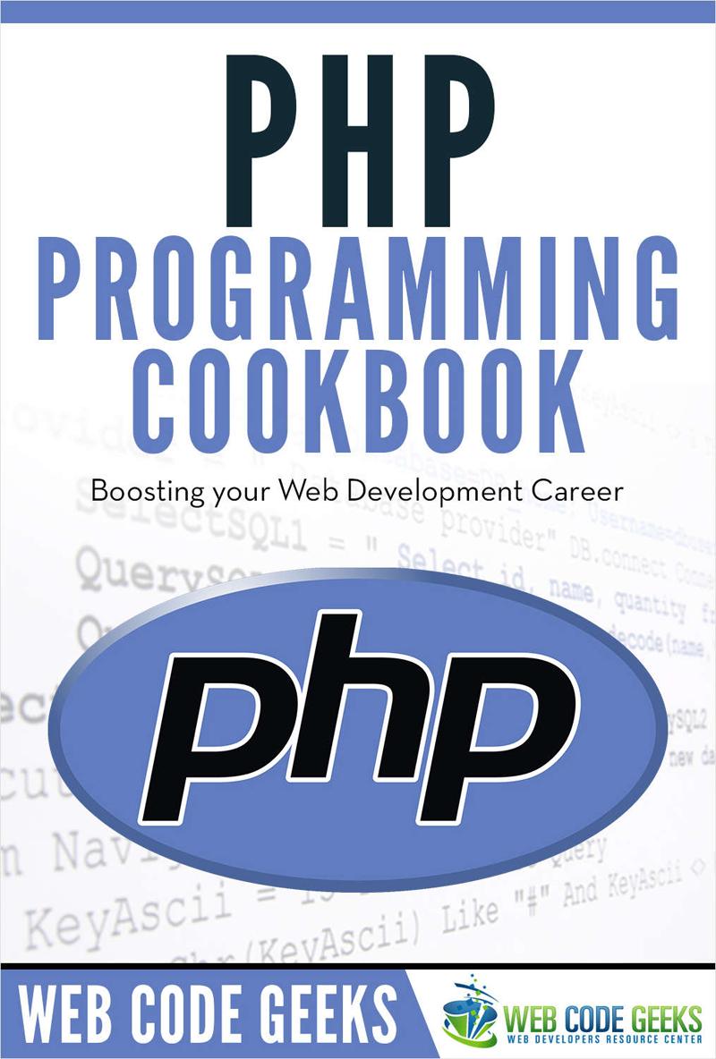 PHP Programming Cookbook Screenshot