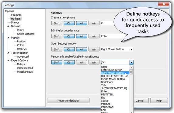 Productivity Software, PhraseExpress v7 Easy Screenshot