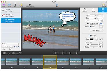 PicGIF, Photo Manipulation Software Screenshot