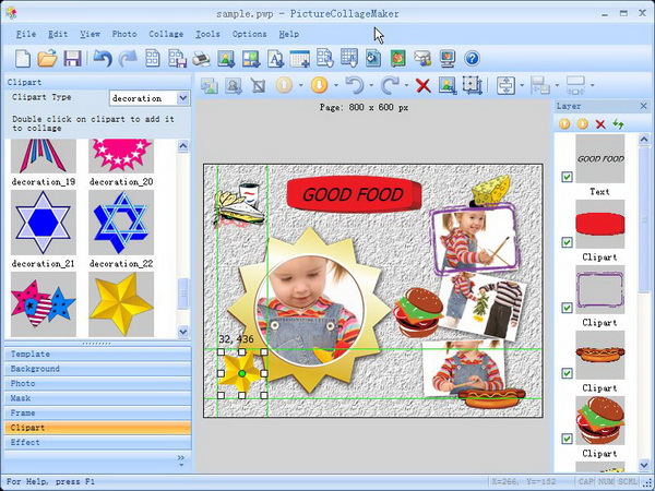 Picture Collage Maker, Design, Photo & Graphics Software Screenshot