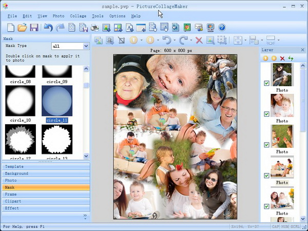 Design, Photo & Graphics Software, Picture Collage Maker Screenshot