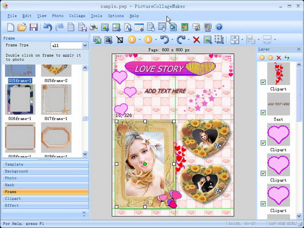 Graphic Design Software, Picture Collage Maker Screenshot