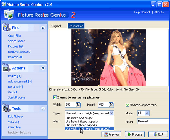 Batch Image Software Screenshot