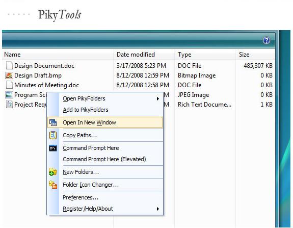 PikySuite, Software Utilities, Files and Folders Software Screenshot