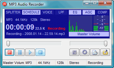Pistonsoft MP3 Audio Recorder Screenshot
