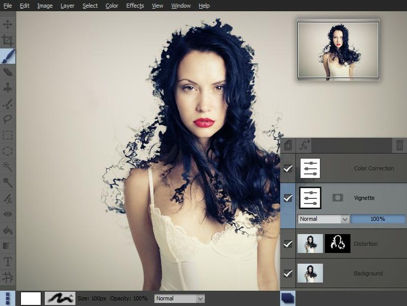 Pixeluvo, Photo Editing Software Screenshot