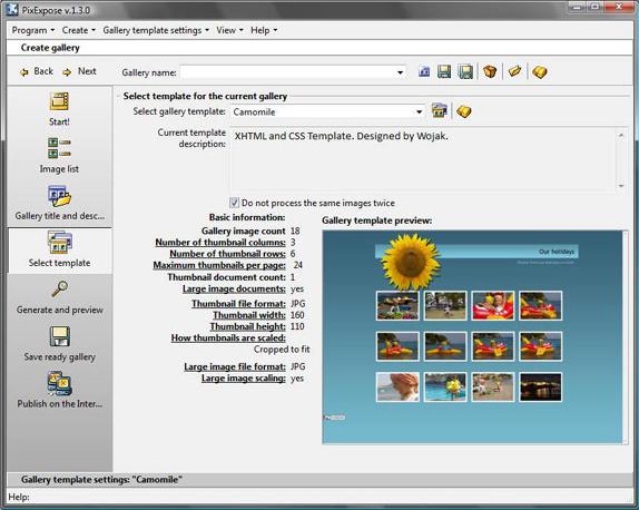 Web Slideshow Software Screenshot