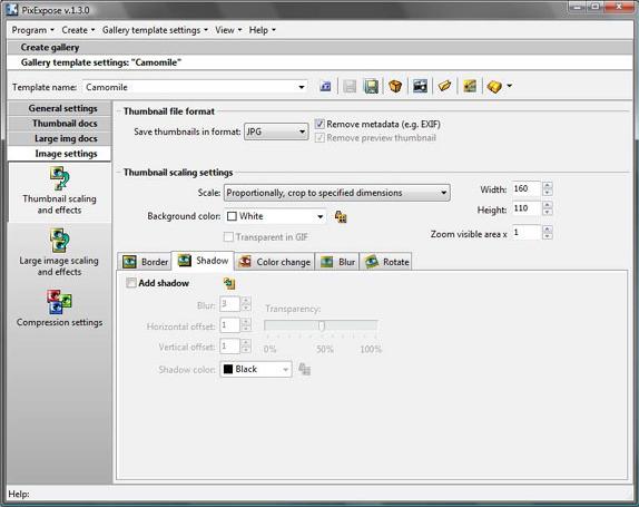 Web Slideshow Software, PixExpose Screenshot