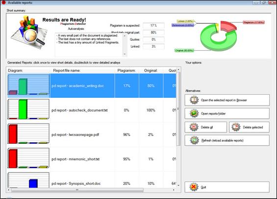 Plagiarism-Detector, Software Utilities Screenshot