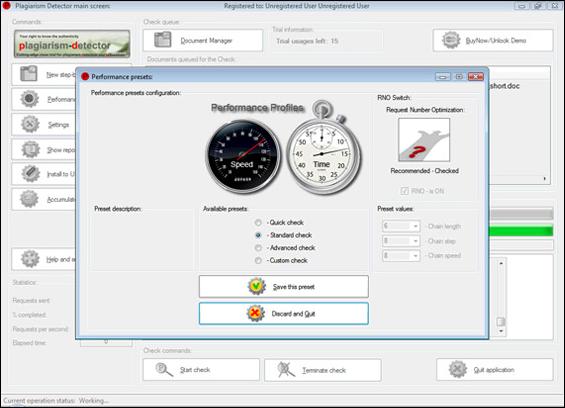 Plagiarism-Detector Screenshot