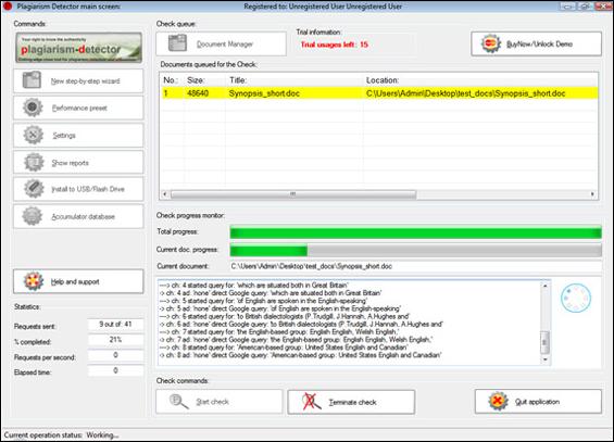 Plagiarism-Detector, Other Utilities Software Screenshot