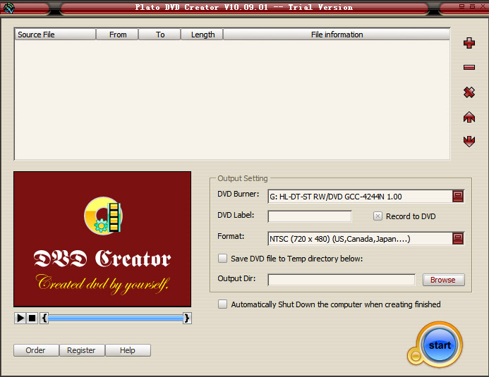 Plato DVD Creator Screenshot