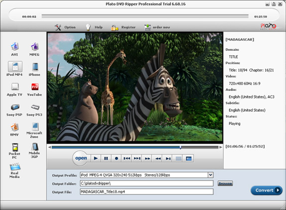 Plato DVD Ripper Pro+ Plato Video Converter Package Screenshot