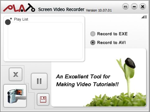 Plato Screen Video Recorder Screenshot