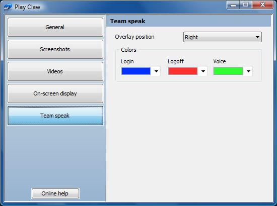 Video Capture Software, PlayClaw Screenshot