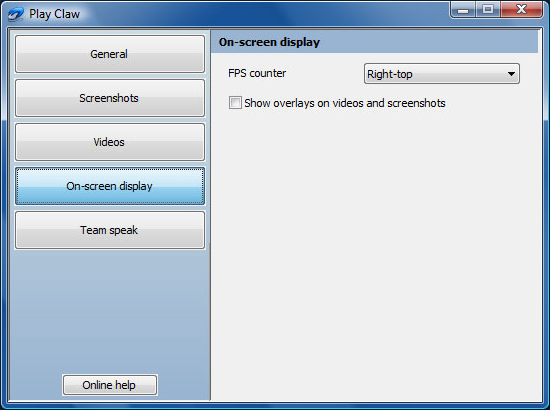 PlayClaw, Video Software Screenshot