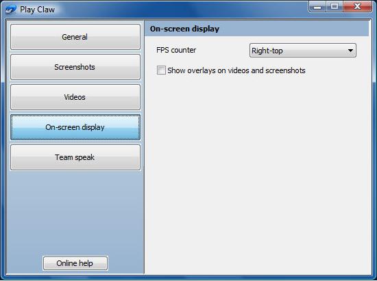 PlayClaw, Video Software Screenshot