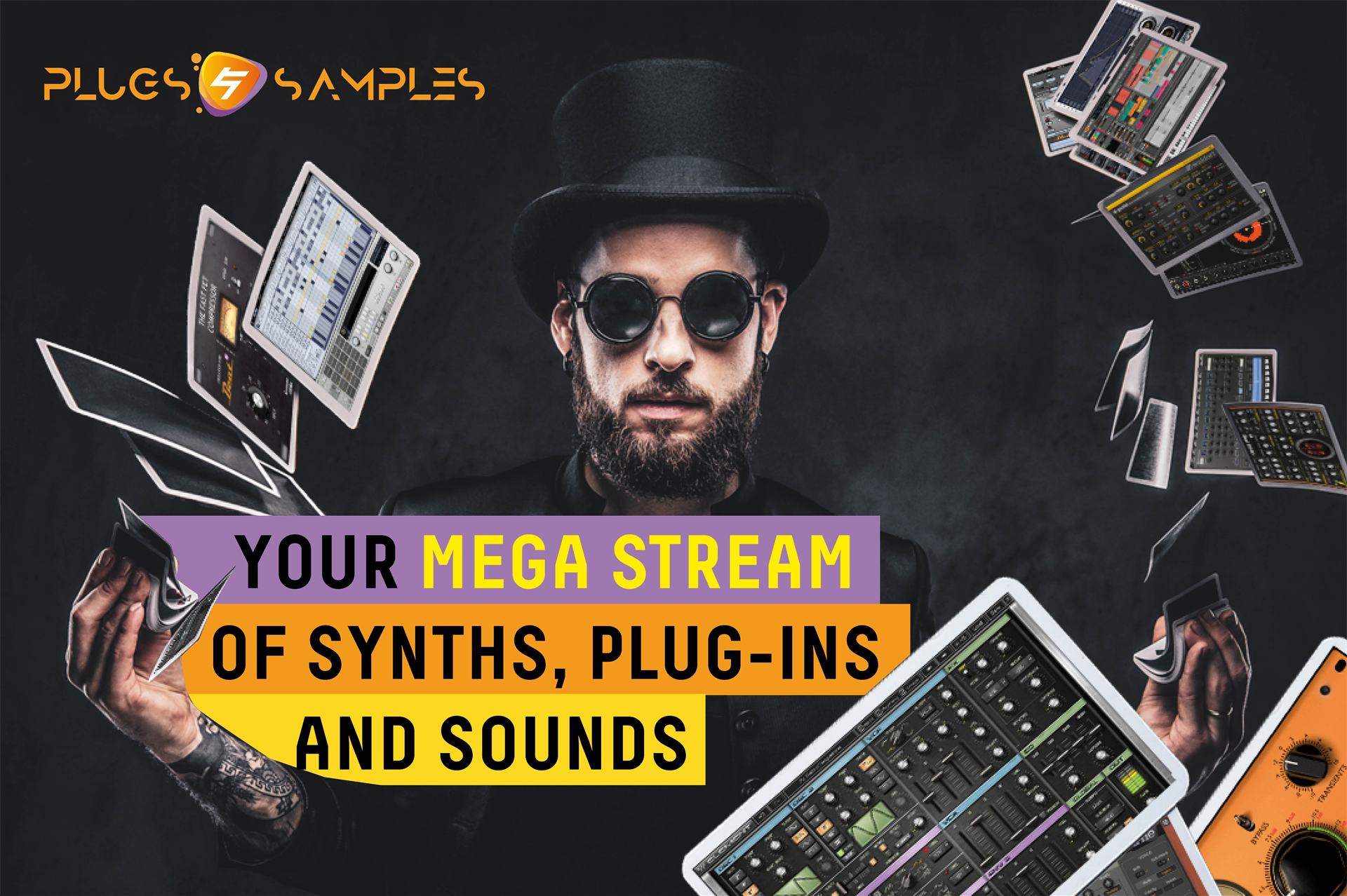 Plugin-Samples: Your mega stream of synths, plug-ins and sounds Screenshot