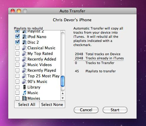 Pod to Mac Screenshot