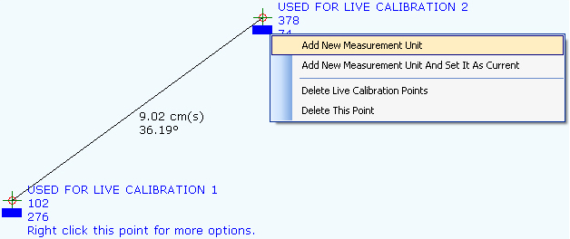 Measurement Software, Points On A Canvas Screenshot