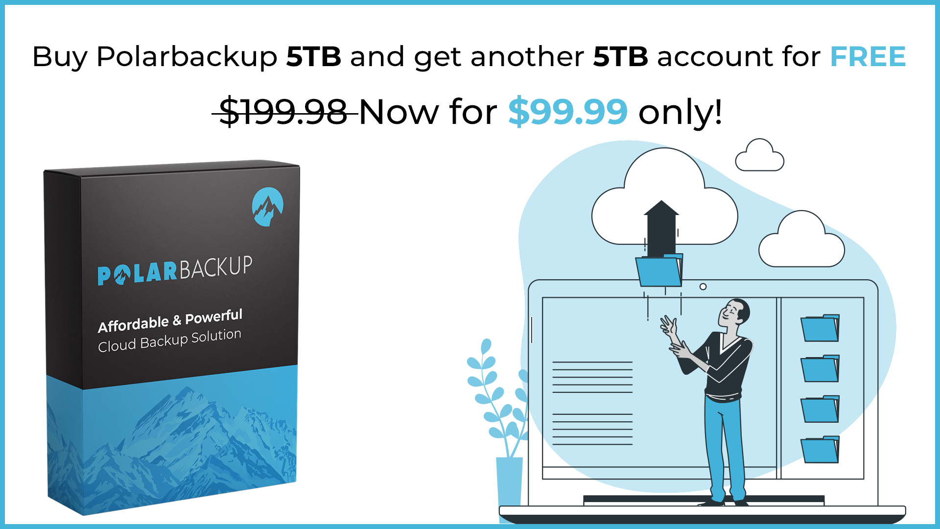 Buy Polarbackup 5TB and get another 5TB account for FREE - Lifetime Screenshot