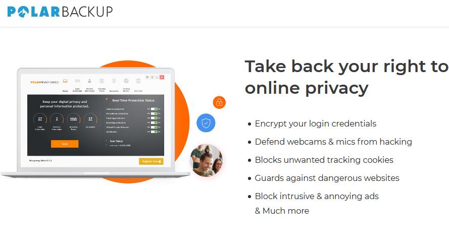 Polarbackup 1TB + Polarprivacy Shield 1 Computer Screenshot