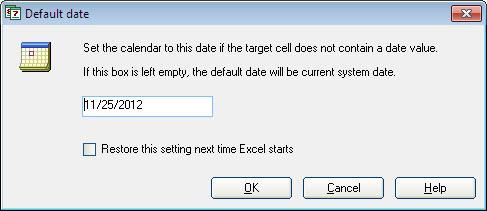 Pop-up Excel Calendar, Business & Finance Software Screenshot
