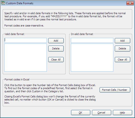 Pop-up Excel Calendar, Excel Add-ins Software Screenshot