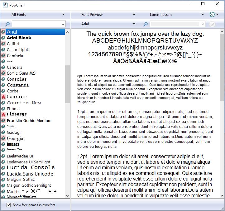 Design, Photo & Graphics Software, PopChar Win Screenshot