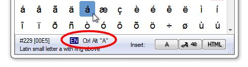 Fonts and Font Tools Software, PopChar Win Screenshot