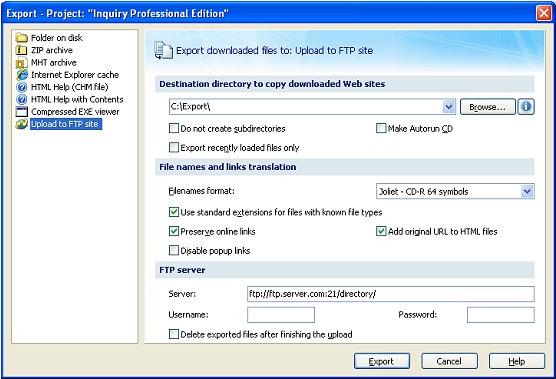 Portable Offline Browser, Internet Download Manager Software Screenshot