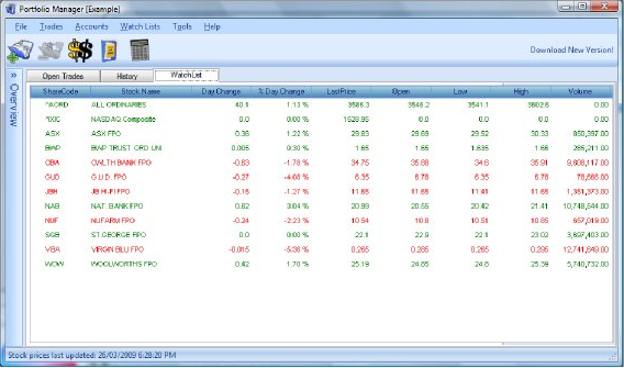 Portfolio Manager, Portfolio Management Software Screenshot