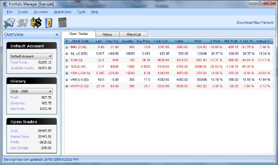 Portfolio Manager Screenshot