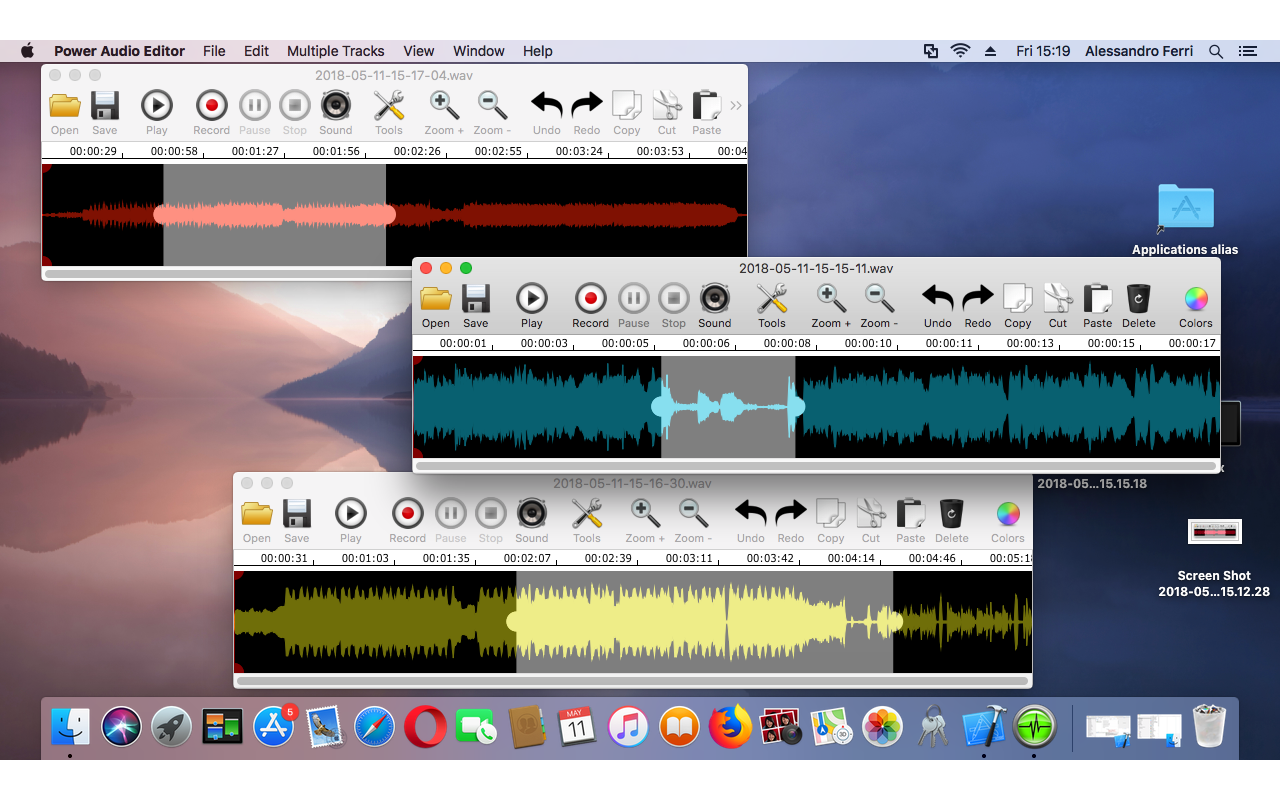 Power Audio Editor, Recording Studio Software Screenshot