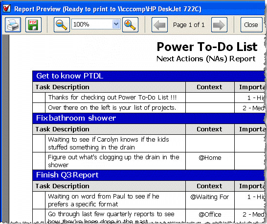 Power To-Do List, Productivity Software, To-Do List Software Screenshot