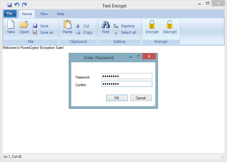 PowerCryptor Encryption Suite, Access Restriction Software Screenshot