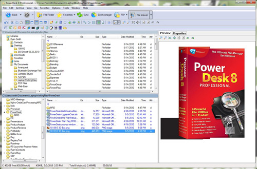 PowerDesk Pro 9 Screenshot