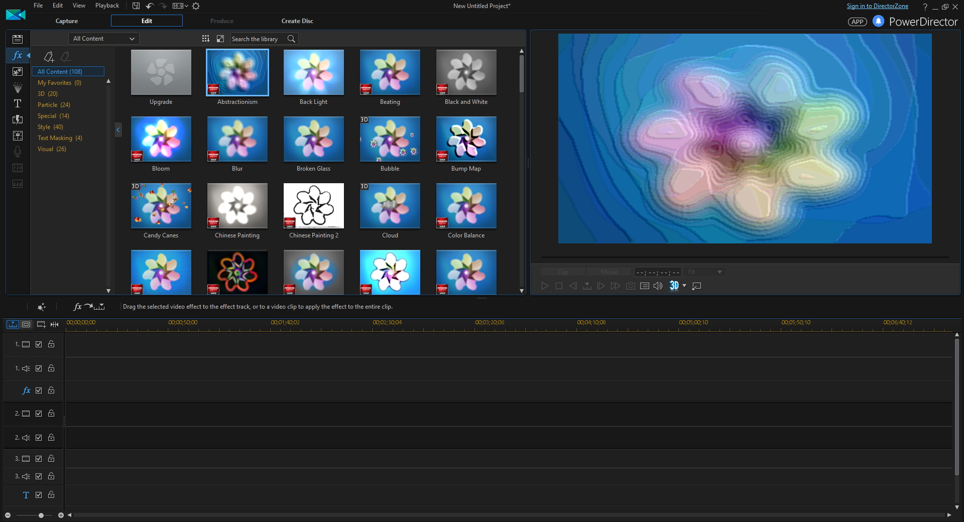 PowerDirector, Video Editing Software Screenshot